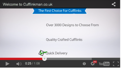 View the Cufflinkman.co.uk video now